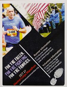 the Marine Corps Expo Poster for wear blue: run to remember featuring Mike