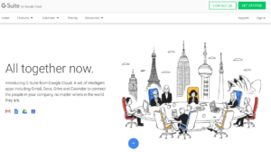 front page of G-Suite webpage