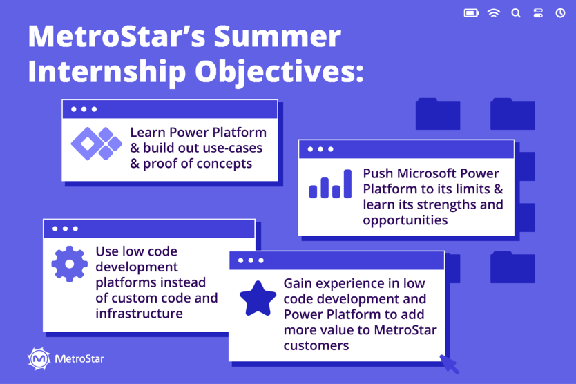 Intern Objectives for Microsoft Power Platform