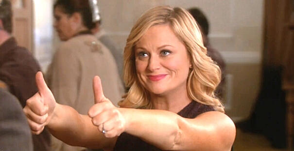 leslie knope giving a thumbs up
