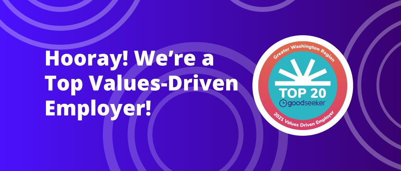 MetroStar Named Top 20 Values Driven Employer from GoodSeeker